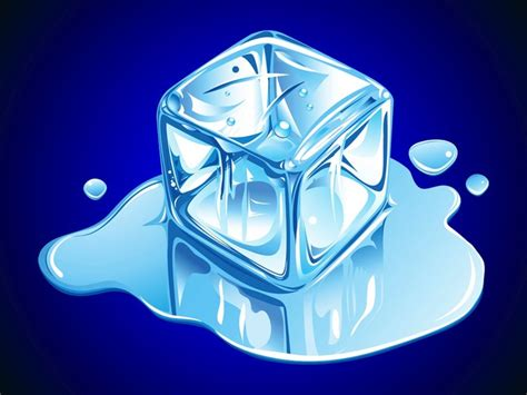 Block L Appears To Be A Melting Cube by Cube Melting Drops Water Vector Free