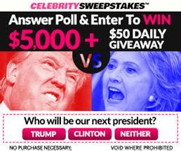 Contests Vs Sweepstakes - sweepstakes a day trump vs hillary seriously free stuff