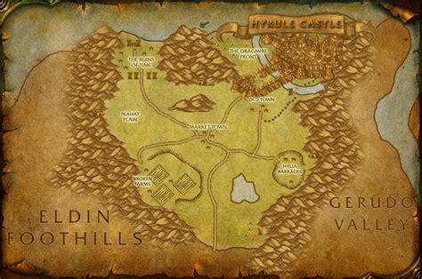 legend of zelda map of hyrule north hyrule field map by therabidartist on deviantart