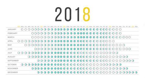 Calendar 2018 With Lunar Dates Moon Calendar 2018 Moon Schedule January 2018