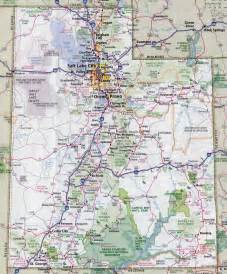 Utah Map With Cities by Large Detailed Roads And Highways Map Of Utah State With
