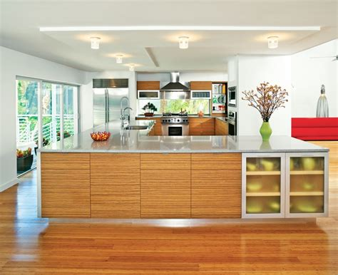 Zebra Wood Kitchen Cabinets Zebra Wood Cabinets Kitchen Modern With Bamboo Flooring Ceiling Lighting Beeyoutifullife