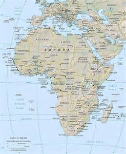 africa map geography africa geography map images