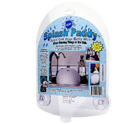 splash paddy set of 2 sink splash guards qvc com splash paddy set of 2 sink splash guards qvc com