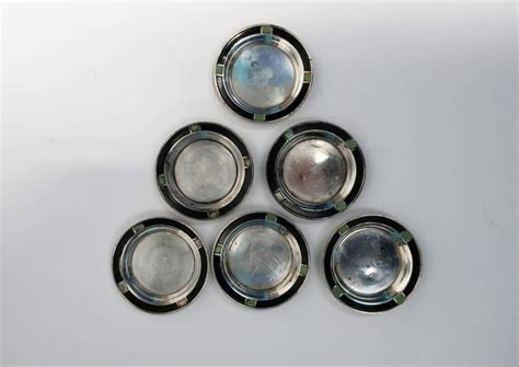 sterling silver barware set of 6 sterling silver art deco small barware or nut bowl vessels 1920s for sale at 1stdibs