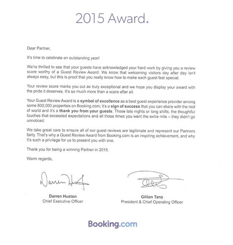 thank you letter after award news and information stay apartments