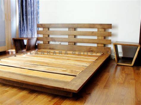 Wood Canopy Bed Frame Teak Mahogany Beds Alankara Gallery Moratuwa