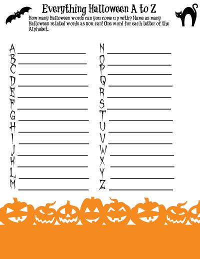 printable games a z everything halloween from a to z game printable