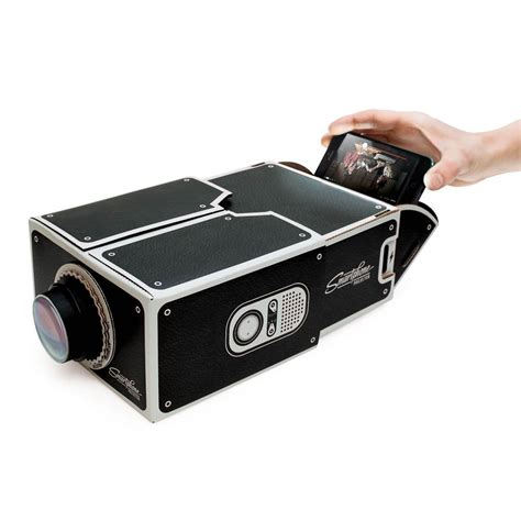 with projector smartphone projector cardboard iphone accessory