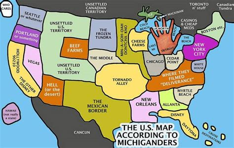 usa map jokes 6 maps of michigan that are just and hilarious