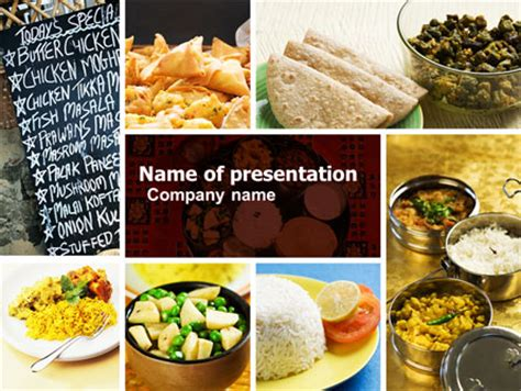 Indian Food Powerpoint Template Backgrounds 05011 Poweredtemplate Com Free Powerpoint Templates Food And Beverage