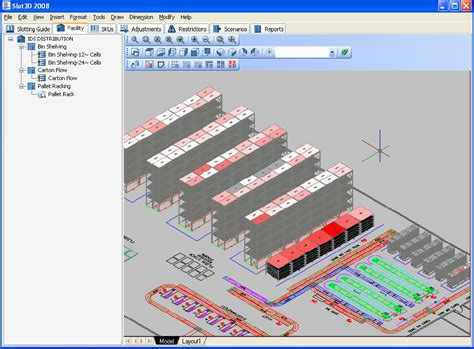 warehouse rack layout excel template slot3d lean sigma supply chain