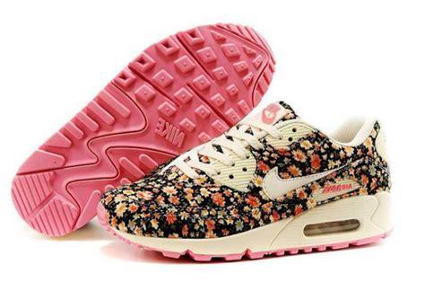 Airmax Flowers shoes nike nike air max 90 floral air max pink black