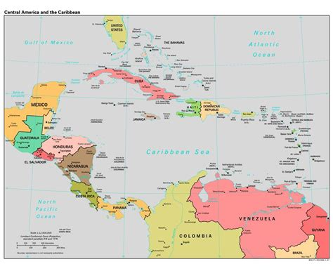 map of america central america and the caribbean maps of central america and the caribbean central america