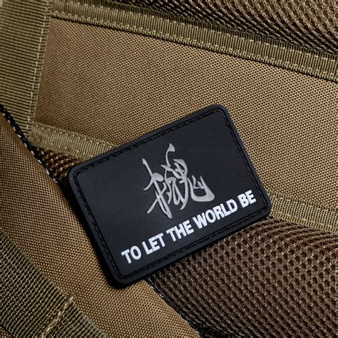Patch Rubber Velcro Tactical Indonesia 1 quot to let the world be 3d logo army morale rubber velcro patchs patch
