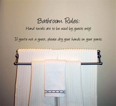 bathroom rules decal humorous bathroom rules wall decal trading phrases
