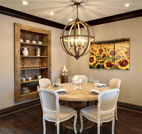 Dining Room Shelving Triptych Wall Dining Room Rustic With Built In Shelves Cage Beeyoutifullife