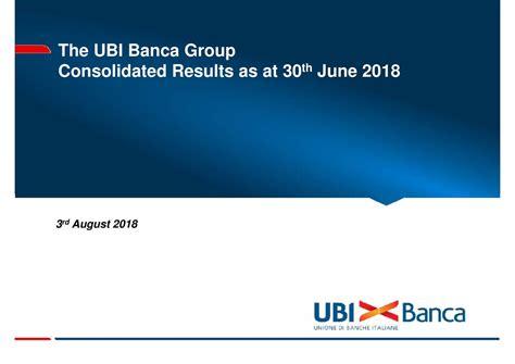 unione banche italiane scpa unione di banche italiane scpa adr 2018 q2 results