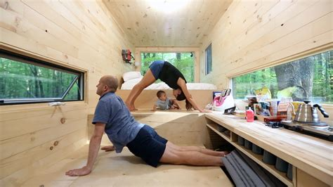 yoga house tiny house test i took my family to a 204 square foot home today com