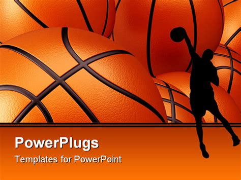basketball powerpoint template 3d render illustration of basketball background up