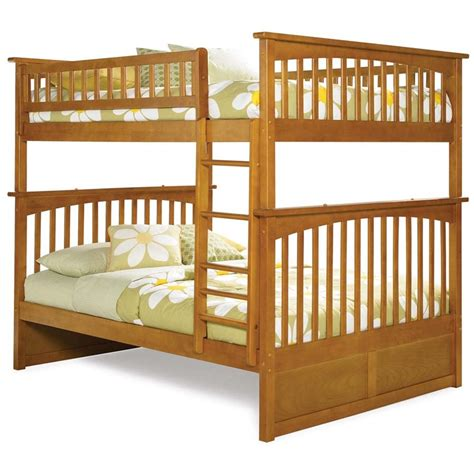 atlantic furniture columbia full  full bunk bed  caramel latte ab
