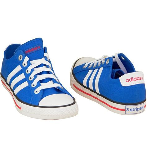 Adidas Neo Import adidas neo label canvas vl 3 stripes derby trainers lifestyle shoes blue white ebay