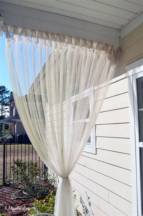 outdoor sheer curtains for patio best 25 patio curtains ideas on pinterest