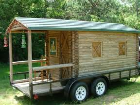 log cabin on wheels with covered porch for sale 3 500