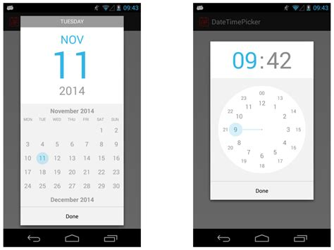 the android arsenal date time pickers datetimepicker android 4 0 - Time For Android