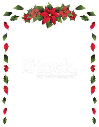 poinsettia border stock photos freeimages com