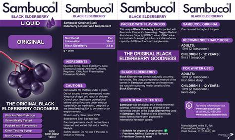 Murah Sambucol Black Elderberry Sugar Free 120ml Made In Usa sambucol 120ml 163 8 70 from the finchley clinic