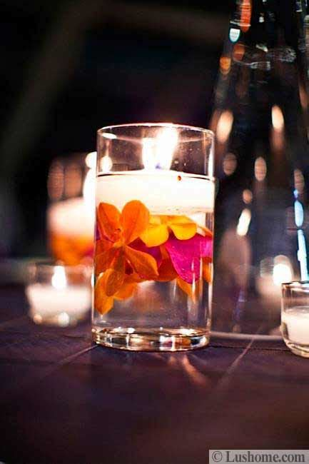 ideas  summer decorating  beautiful flowers  candles centerpieces