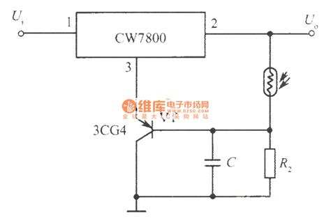 optical integrated circuit schematics the second circuit of optical integrated regulated power supply power supply circuit