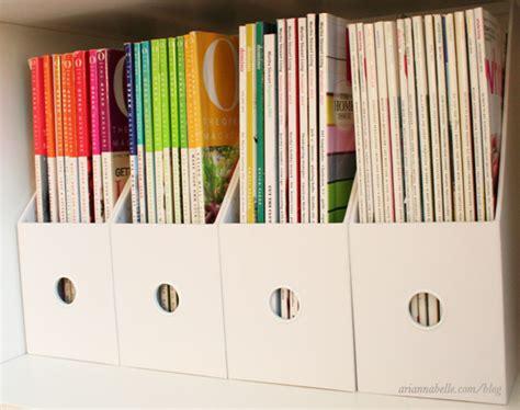 magazine storage arianna belle the blog