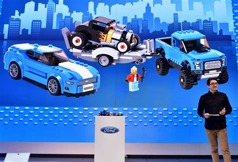 lego ford ford lego speed chions introduce mustang f 150 raptor