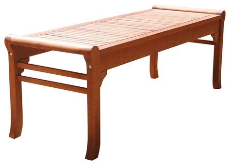 eco friendly benches malibu eco friendly 4 backless outdoor hardwood garden bench transitional outdoor benches