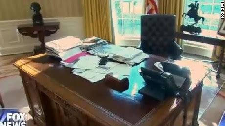 trump desk in oval office trump s desk on display clutter and all cnnpolitics