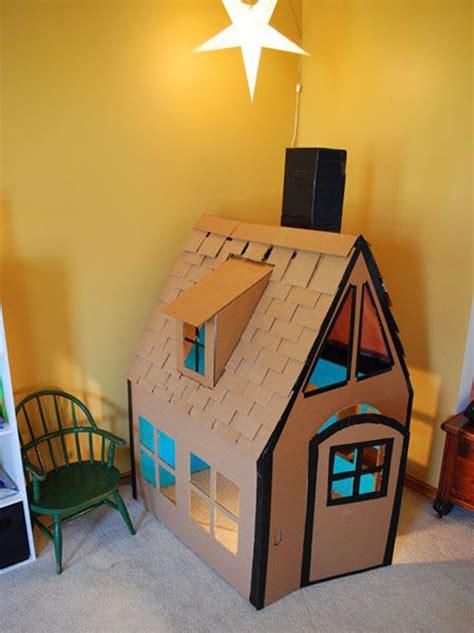 awesome cardboard playhouse design  kids homemydesign