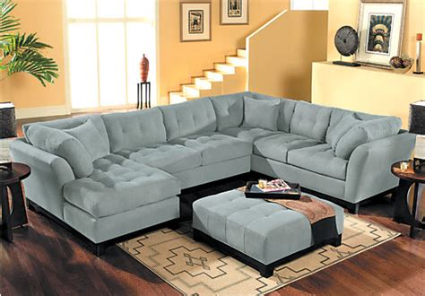 laf sofa rooms to go metropolis hydra 3pc sectional living