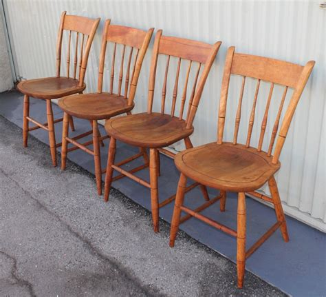 Nichols And Furniture by Signed Nichols And Thumb Back Chairs Set