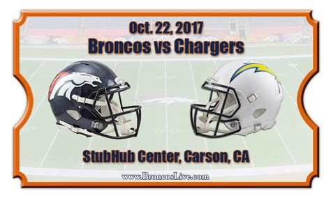 stubhub broncos chargers denver broncos vs los angeles chargers football tickets