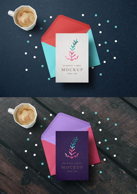 Week Psd Template For Cards by 55 Best Gift Greeting And Invitation Card Mockups Free