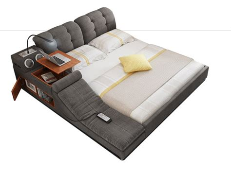 Minimalist Bed Frame The Ultimate Bed With Integrated Massage Chair Speakers