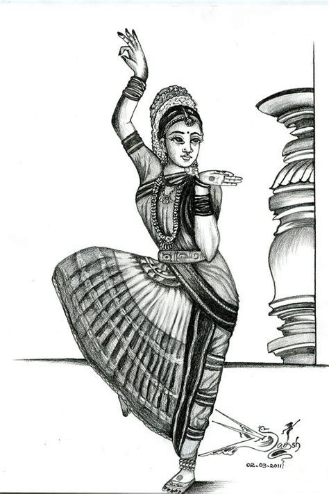 paisley drawing kuchipudi dance