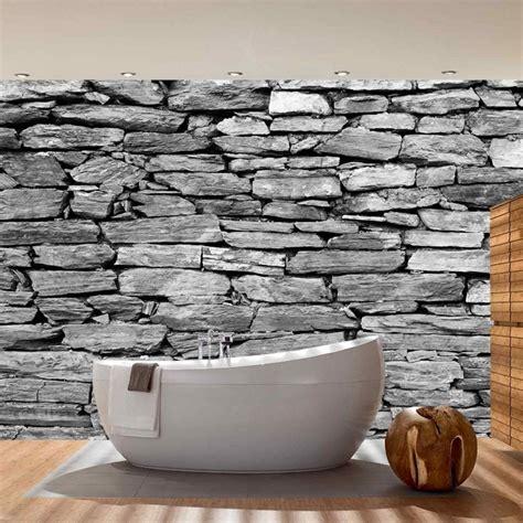 stein tapete deko tipps graue wand und stein graue wand und stein teetoz