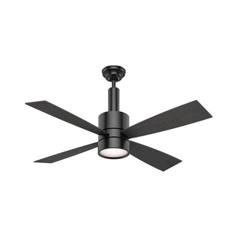 black ceiling fan casablanca bullet 54 in indoor matte black ceiling fan
