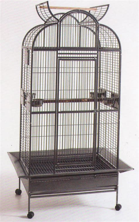large playtop bird cage parrot cage macaw wrought 24