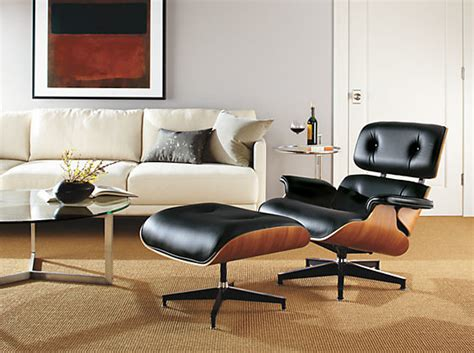 Eames Chair Living Room Eames Leather Lounge Chair Ottoman By R B