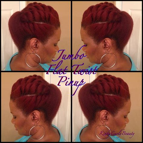pin up for kinky twist video tutorial 5 flat twist pompadour pin up global