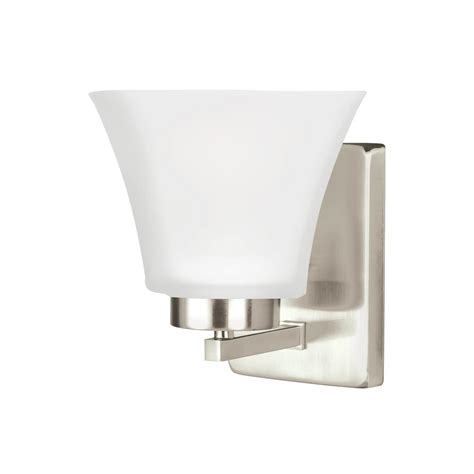 sea gull lighting bayfield 1 light brushed nickel wall